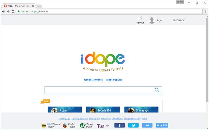 iDope torrent tracker