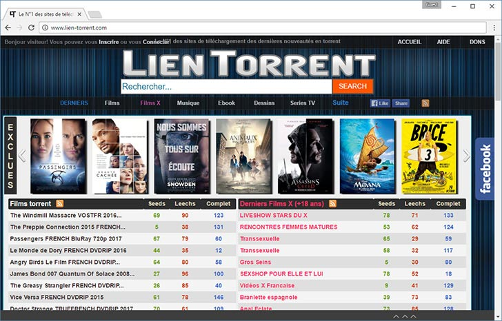 Lien Torrent torrent tracker