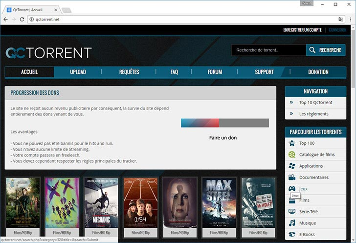 QcTorrent torrent tracker