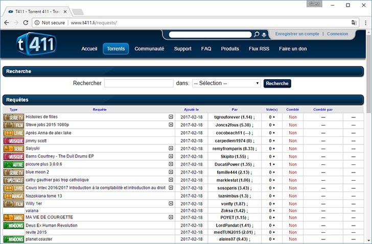 T411 torrent tracker